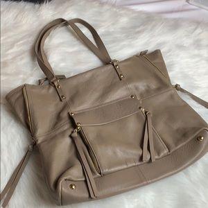 Kooba taupe shoulder bag purse in EUC